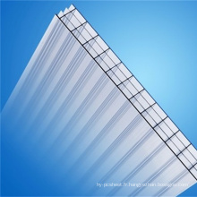 Fabricant de feuille de mur de feuille de polycarbonate de feuille de Multi-Mur quatre (OEM disponible