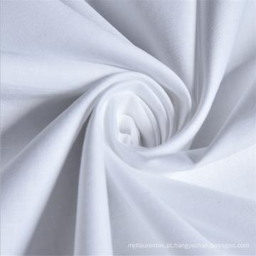 Grossista Plain branco 180 fios contar 100% algodão tecido com embalagem de rolo