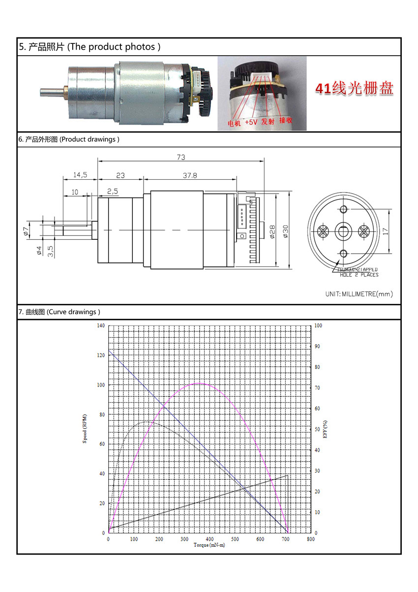 dc gear motor specifications