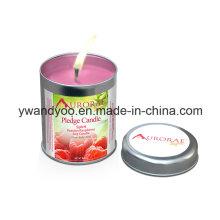 Venda por atacado de velas de lata perfumadas para decoração de casa
