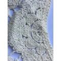 bordado especial de cuerda de cuello blanco de algodón