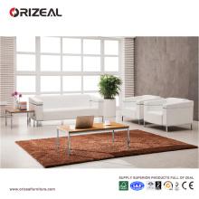 Ensemble de sofa de bureau moderne Orizeal en cuir blanc (OZ-OSF003)