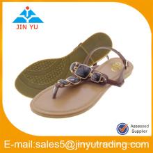 Sandalias de la señora de los zapatos de la venta al por mayor 2016manufacturer con la piedra