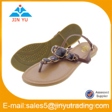 2016manufacturer wholesale shoes lady sandals with stone
