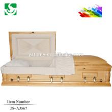 Caixão de alta qualidade fabricado na china com boa aparência