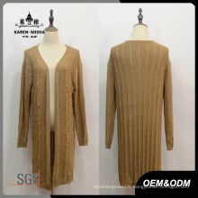 Women Long Sleeve Basic Style Cardigan