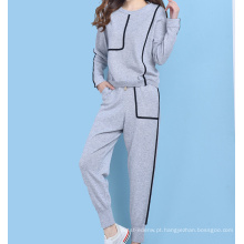 PK18ST095 cashmer sweater mulher jogger set ioga wear
