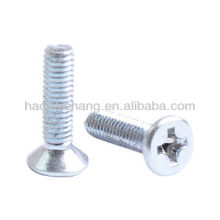 Zinc-plated Countersunk head phillips screws for household appliances