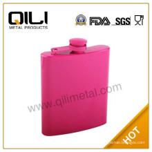 7oz stainless steel pocket coating mini wine pot liquor bottle for woman