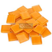 Tuile de verre orange pour l'approvisionnement d'artisanat d'art de mosaïque