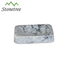 Hot-selling mão feita pedra mármore branco Soapbox