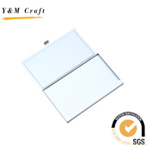 Titulaire blanc de carte de visite en métal (M05040-1)