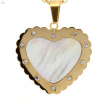 Trendy style heart pendants silver gold new 316l charm pendant