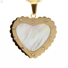 Estilo moderno pingentes de coração prata ouro novo 316l charme pingente