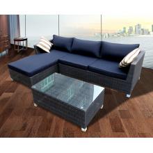 Garten Rattan Sofa Chaise Lounge-Stühle-Set