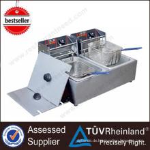 Kommerzielle Restaurant-Öfen 2-Tank 2-Korb-elektrische tiefe automatische Friteuse