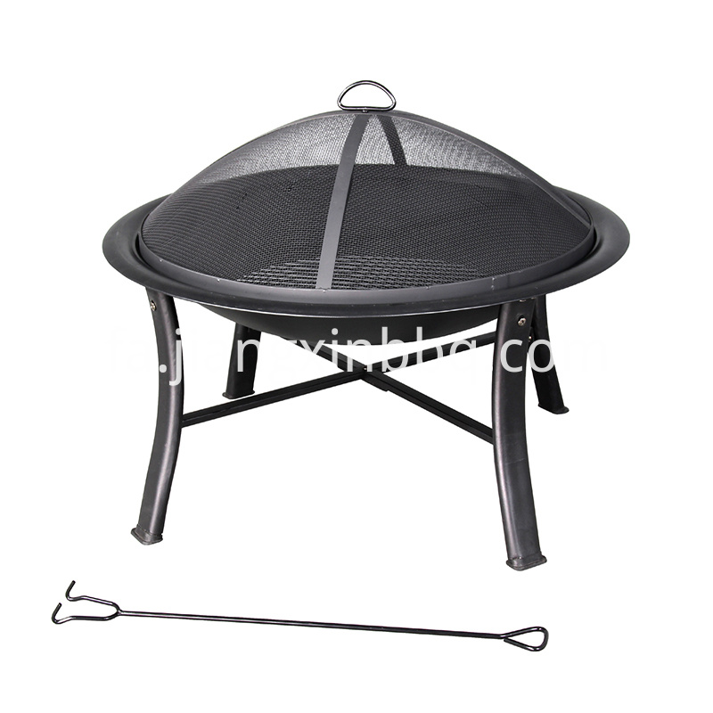 Deco 30 In W Black Steel Wood Burning Fire Pit