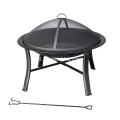 30 '' Black Steel Wood-Burning Fire Pit