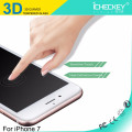 Hot selling!3D curved full cover carbon fiber tempered glass screen protector for Iphone7