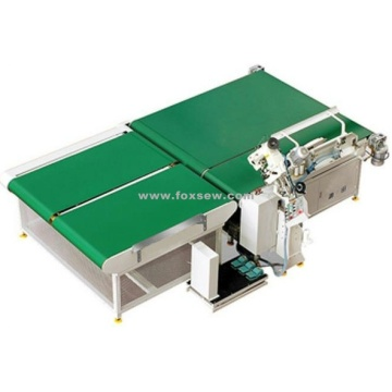 Auto-Flipping Mattress Tape Edge Machine