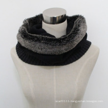 Lady Faux Fur Acrylic Knitted Fashion Infinity Scarf (YKY4388)