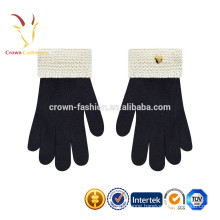 Black Children Wool Snow Gloves Mittens