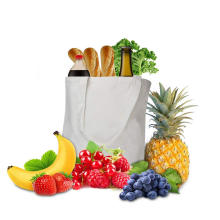 Reusable Canvas Grocery Bags 16 X 16 X 5 Inch Tote Groceries Shopping Bags Bottom Gusset 12 oz