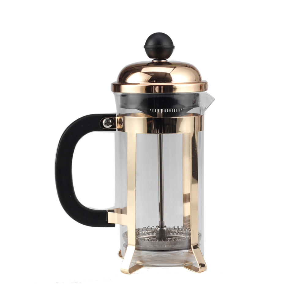 Champaign Gold Frame Glass French Press