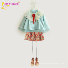 Korean School Style Kids Girls Long Sleeves Cappas,Girls Lace Tippets Wraps,Girls Dress Jackets
