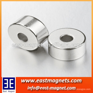 Hot sale Zinc coated strong Ndfeb 30x10x20mm (thick) Permanent ring magnet