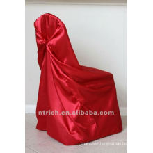 self-tie back chair cover,CT336 satin chair cover,universal chair cover