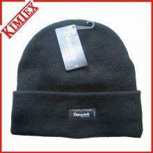 Chapeau allongé en acrylique tricotée à l'hiver