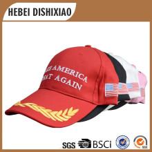 100% coton broderie et impression chapeau électorale faire America Agreat Again Caps Hat Promotion