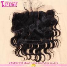 3 пробор объемная волна бразильского Виргинские волос кружева фронтальная закрытие 13*4 уха до уха кружева фронтальная