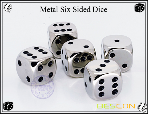 Bescon-Metal Six Sided Dice