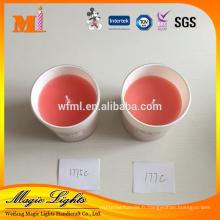Bougies parfumées faites sur commande de pot en verre faites sur commande de haute qualité