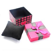 Caixa de empacotamento do bracelete rígido feito sob encomenda da jóia com inserção