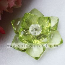 Handmade 54MM Artificial Clear/AB Clear Blossom Flowers