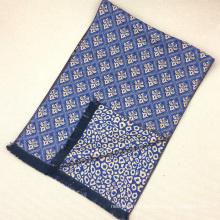 Lã de seda de leopardo amarelo muçulmano misturado escovado lenços de inverno cachecol