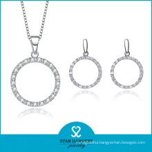 Famous Sterling Silver CZ Jewelry Set (J-0149)