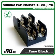 FB-M032SQ Igual a Busmann 600V 2 Pole Din Rail 30 Amp Fuse Box