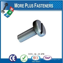 Made in Taiwan Slotted Cheese Head Machine Screw
