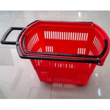 Cesta de compras del supermercado del precio de fábrica 48L con Wheelsyd-Zc-9