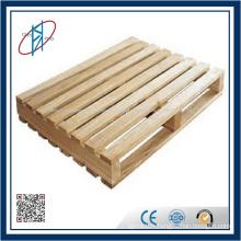 Palette en bois simple face à 4 voies