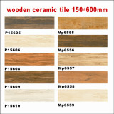 Wooden Glazed Porcelain Tile / Ceramic Rustic Floor Tile