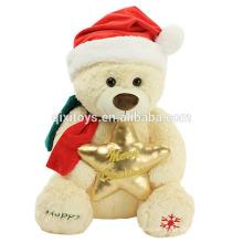 2017 venda quente de natal brinquedos de pelúcia recheado de pelúcia decoração de natal doces ursinho de pelúcia brinquedo