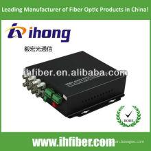 8 canales singlemode 20/40/60 kilometros fibra óptica Video Converter