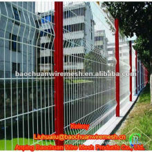 Coating curved metal fence