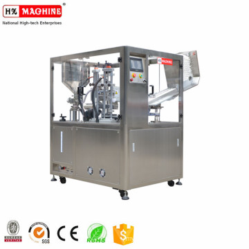 Automatic multi-purpose plastic cosmetics cream lotion paste soft tube filling and sealing machine