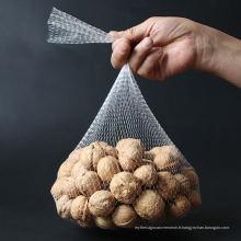 emballage de maille en plastique blanc en petit pain